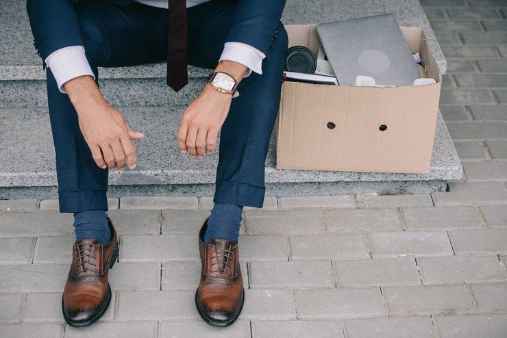 laid off businessman