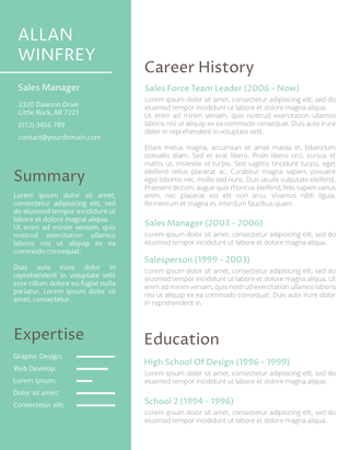 Powerful Makeover Resume Template
