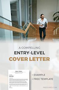 cover letter example for entry level