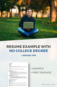no college degree resume sample