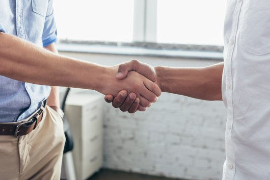 firm handshake during the job interview