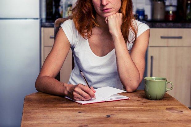 writing down a list