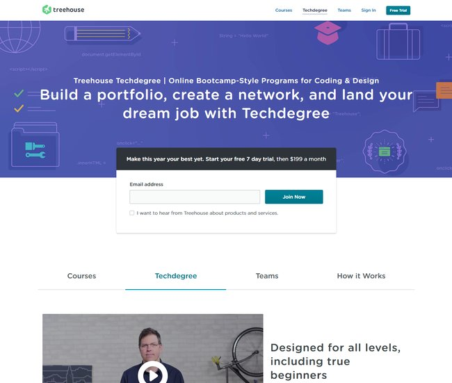 Treehouse technology courses