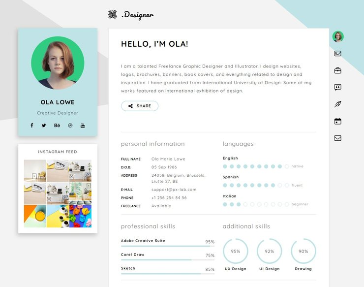 Certy WordPress CV theme