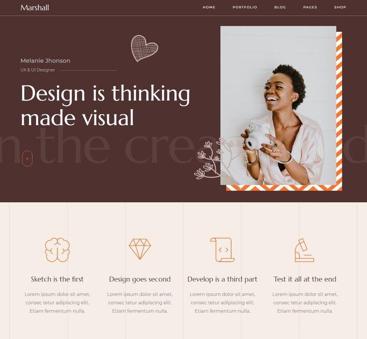 Marshall WordPress CV theme