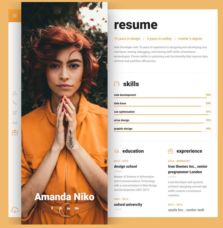 Niko WordPress resume