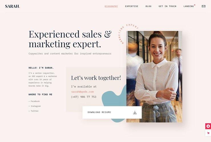 MyCareer WordPress resume theme