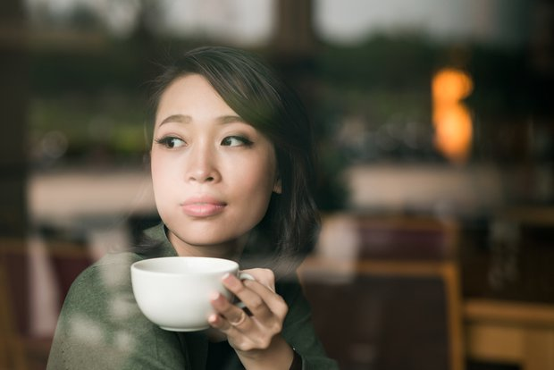 woman reflecting on interview performance