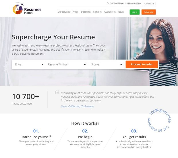 ResumePlanet writing service