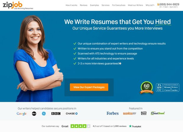 ZipJob resume writing service