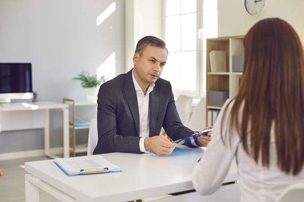 HR manager asking question during interview