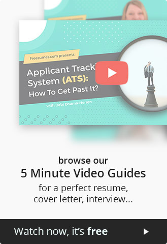 5 minute videos about resume, cover letter and interview by HR expert