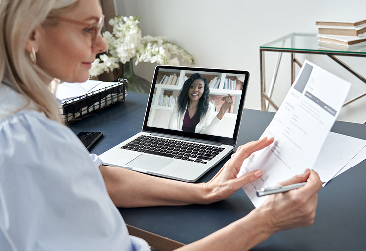 recruiter conducting a zoom interview