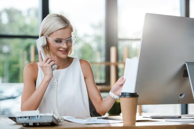 recruitment agency staff calling employer