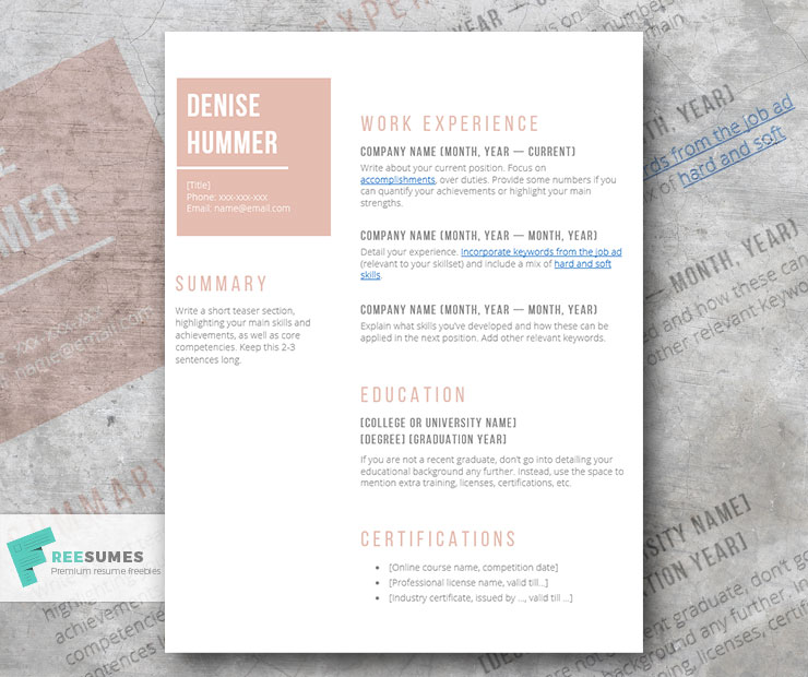 simple resume outline