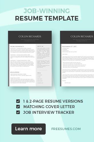 job-winning resume template pack