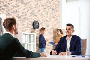 conducting job interview